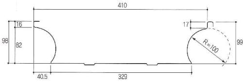馳タイプ断面形状図